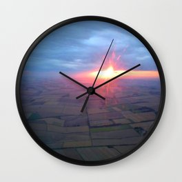 Flying at Sunset (Full Sutton) Wall Clock