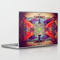 mandala Laptop & iPad Skins featuring Mandala by Aaron Carberry