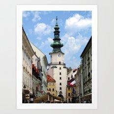 Michael's Gate - Bratislava Art Print