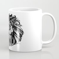 zodiac Mugs featuring Signs of the Zodiac - Leo by Andreas Preis