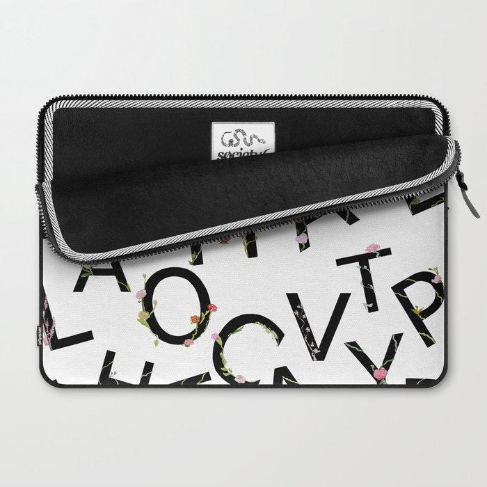 Letters Pattern Laptop Sleeve