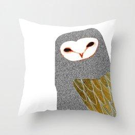 Barn owl, owl art, owl illustration, owls, nature, animal art, Throw Pillow