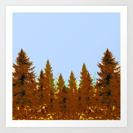 DECORATIVE BROWN-OCHER COLORED FOREST Art Print