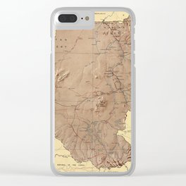 Map Of Sudan 1963 Clear iPhone Case