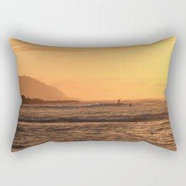 North Shore Sunset Rectangular Pillow