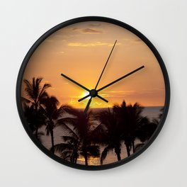 Hawaiian Sunset Wall Clock