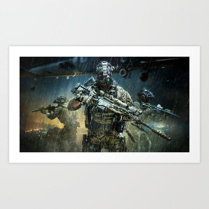 Night time Sniper Hunting Art Print