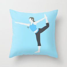 Wii Fit Trainer♀(Smash) Throw Pillow