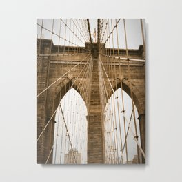 brooklyn bridge dreaming Metal Print