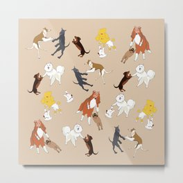 Dancing dogs Metal Print
