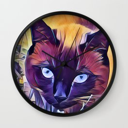Here Kitty Kitty Kitty Wall Clock