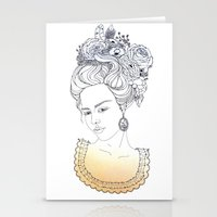 marie antoinette Stationery Cards featuring Marie Antoinette by Diana Todorova