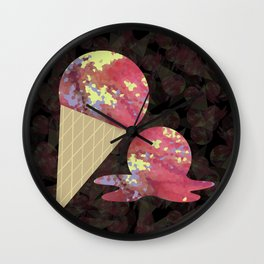 Three Second Rule; Save the Ice Cream Wall Clock