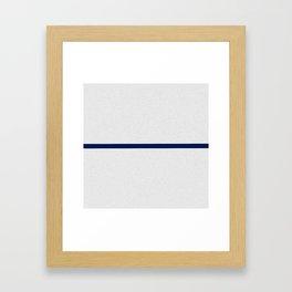 Contemporary modern navy blue off white geometrical Framed Art Print