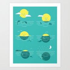 Where the Sun Sets Art Print