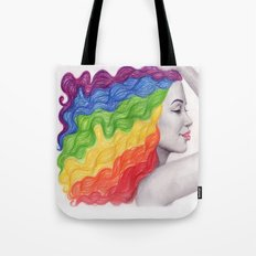 Rainbow Locks Tote Bag