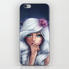 White-haired Girl iPhone Skin