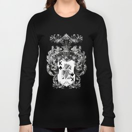 Poker King Spades black and white Long Sleeve T-shirt
