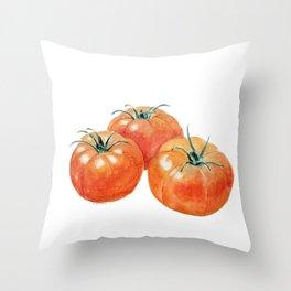 Three Tomatoes Throw Pillow