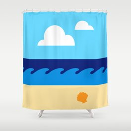 Let's Go to the Beach! Shower Curtain