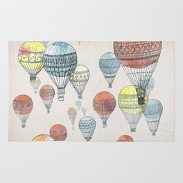 Voyages Hot Air Balloons Rug