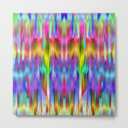 Colorful digital art splashing G488 Metal Print