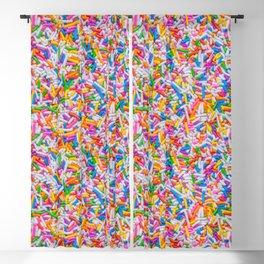 Dessert Rainbow Sprinkles Pattern Blackout Curtain