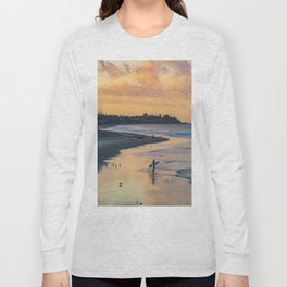 Sunrise Surfer in San Clemente Long Sleeve T-shirt