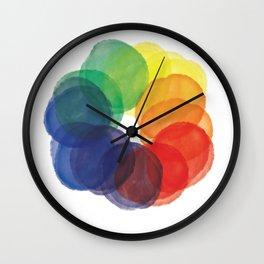 Watercolor Wheel Wall Clock
