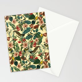 FLORAL AND BIRDS VII Stationery Cards