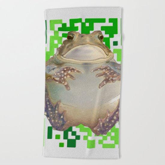 EcoQR Toad Beach Towel