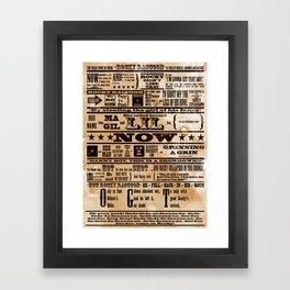 Rocky Raccoon Framed Art Print