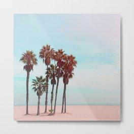 Palm Trees - Beach - California - Nature Photography Metal Print