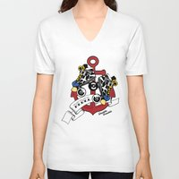 rebel V-neck T-shirts featuring Rebel! by Double Trouble
