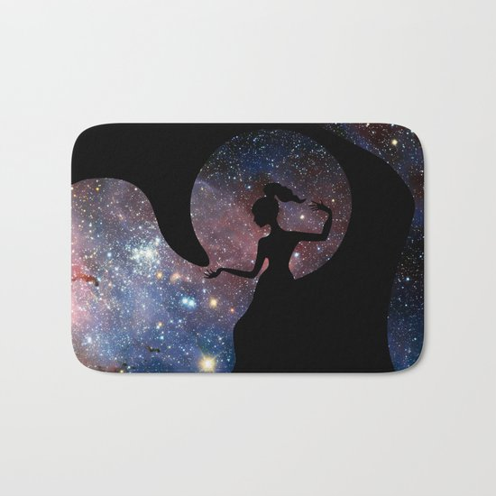 Galaxy From Within Bath Mat