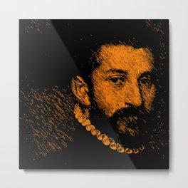 """The black knight"" by Giovanni Battista Moroni Metal Print"