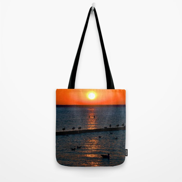 Summer Sunset on the Baltic Sea Tote Bag
