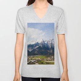 Village Beneath the Mountain Unisex V-Neck