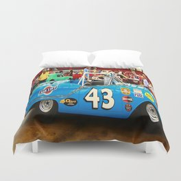 Supped Up Blue Convertible Duvet Cover