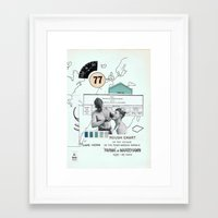 charlie Framed Art Prints featuring Charlie —•—• by Aprile Elcich