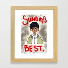 Sunday's Best Framed Art Print