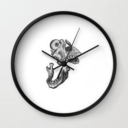 Broken jaw Wall Clock