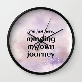 Minding My Own Journey (black)  Wall Clock