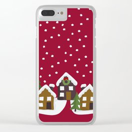 Winter idyll Clear iPhone Case