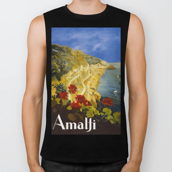 Vintage Amalfi Italy Travel Biker Tank