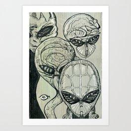 Shades of Grays: III Art Print