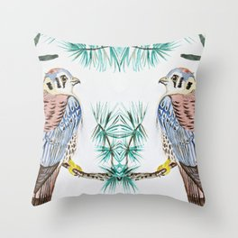 kestrel watercolor Throw Pillow