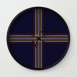 Filigree Retro Colored Lines Wall Clock