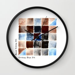 Color Chart - Burnt Sienna (DS) and Cerulean Blue (DS) Wall Clock