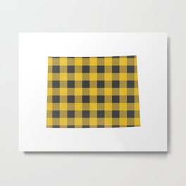 Wyoming Plaid in Yellow Metal Print